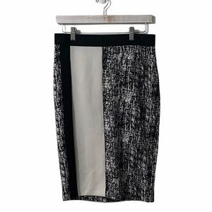 Vince Camuto Black & White Pencil Skirt | Small